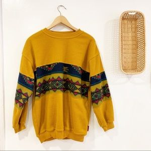 Vintage Aztec Southwestern Pullover Fleece